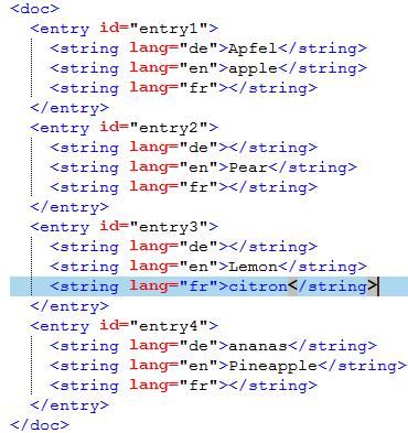 memoQ-Hilfe - Beispiele für XML-Importregeln