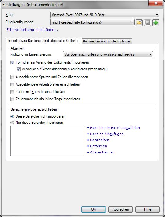 memoQ-Hilfe - Microsoft Excel 2007/2010/2013 (XLSX)