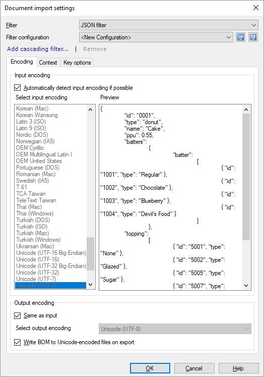 JavaScript Object Notation (JSON) files